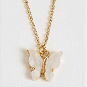 Long Chain Butterfly Necklace